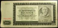 CZECHY I MORAWY 1000 KORON 1925 SERIA Ib