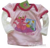 80cm T-shirt niemowlęcy Baby Pink Panther A190 N