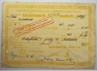 KWIT SKŁADKOWY TOW. UBEZ. ,,VITA,, - 1931 R.