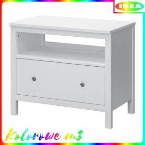 Ikea Hemnes Szafka Pod Tv Biała Bejca 6291911282