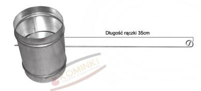Przepustnica z uszczelką 100mm 125mm na drucie