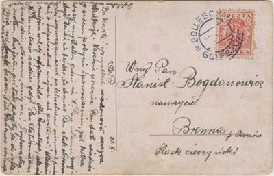 Śląsk Cieszyński st. prowizoryczny Goleszów 1919
