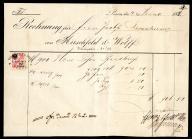 Rachunek Hirschfeld und Wolff 1882 opłata skarbowa