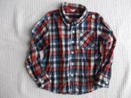 LINDEX koszula modna krata HIT bawełna 6lat r.116