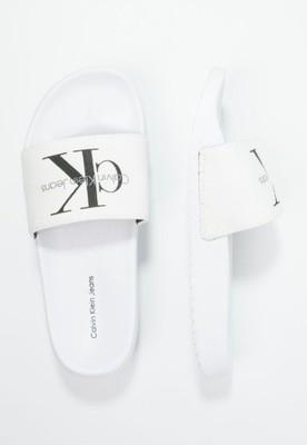 82ffd2be9 CK Calvin Klein białe klapki R.38 NOWE - 6596314350 - oficjalne ...