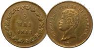 25.SARDYNIA, ŻETON - KRÓL KAROL ALBERT 5 MAI 1848