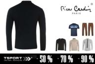 Sweter Swetr CZARNY Golf PIERRE CARDIN Roll Nek XL
