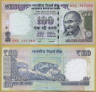 -- INDIE 100 RUPEES 2011 6NC P105c UNC