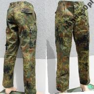 wojskowe spodnie BW flecktarn gr 20 NOWE + okulary
