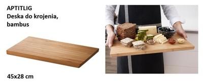 Ikea Aptitlig Deska Do Krojenia 45x28 Bambus Super 6307547944