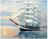 Obraz statki morze haft diamentowy koraliki