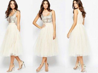 122e4da1a6 Little mistress sukienka cekinowa tiulowa 34 XS - 6646243075 ...
