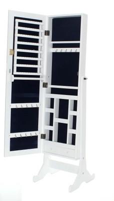 Nowoczesna architektura Lustro stojące toaletka szafka biżuterię 2 kolory - 6671085955 OY74