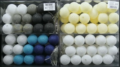 Ozdobne Kule Led Lampki Dekoracyjne Cotton Ball 30