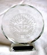 Medalion szklany Uniwersytet Handlu Tadżykistan!!!