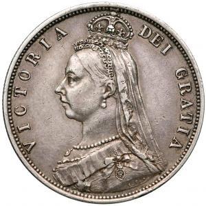 1256. Wielka Brytania, Floren 1887, st.3+/2 ŁADNY