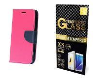 Case Etui Fancy +Szkło Huawei Mate 9 | Różowy
