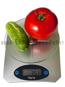 WAGA KUCHENNA - ELEKTRONICZNA SZKLANA DO 5 kg /1g.