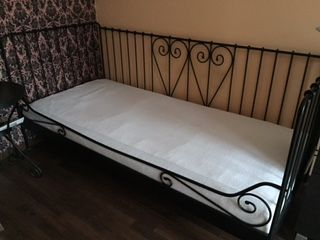 Ikea Rama łóżka Czarna Stelaż Stolik Nocny