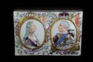 Pojemnik na tabakę Miśnia 18 wiek August III Sas