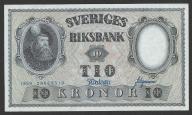 Szwecja - 10 koron - 1959 - stan bankowy UNC