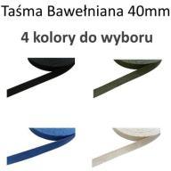 Taśma Bawełniana Pasek 40mm (k:: Czarny)