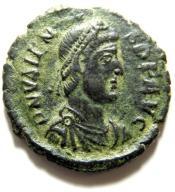 AC- WALENS (364-378), Kyzikos, WIKTORIA, AE3 ładny