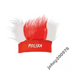 PERUKA Z OPASKĄ EURO 2012 POLSKA  65309