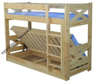 Unikat 90x200 łóżko Piętrowe Tapczan Mega 120kg