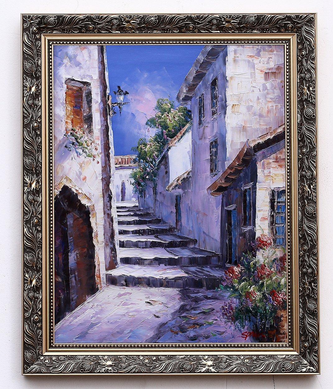 Grecki Impresjonizm Piękny Obraz Olejny Cudo 7002634523