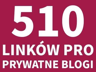 510 LINKÓW Z BLOGÓW pozycjonowanie katalogowanie