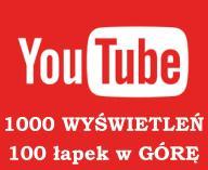1000 WYŚWIETLENIA YOUTUBE + 100 ŁAPEK GRATIS YT