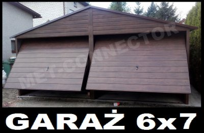 Garaże Blaszane Garaż Blaszany Blaszak 6x7 6570040897 Oficjalne