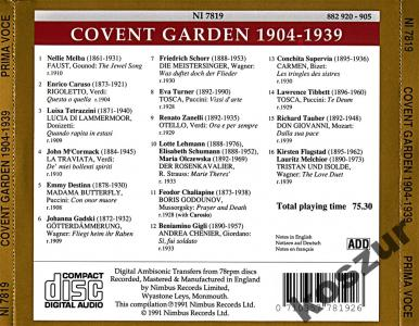 PRIMA VOCE Great Singers at Covent Garden 1904-39