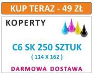 KOPERTY C6 SK 250 SZT Z NADRUKIEM I INNE DL C5 C4