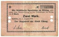 Elbląg - Elbing - 2 Mark - 1914  - BEZ STEMPLA