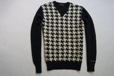 BEN SHERMAN sweter sweterek granat WEŁNA logo____S