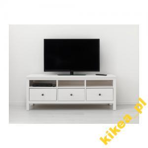 Ikea Hemnes Szafka Pod Tv Biała Bejca 149x47 5687189121