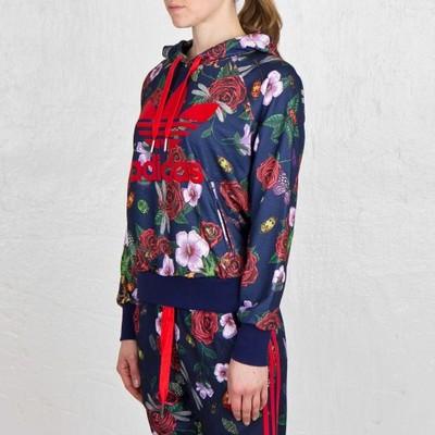 Adidas Originals Big Logo Bluza Flowers Kwiaty Czarna M