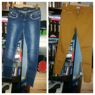 zestaw spodni 36 S/armani/riber island/only