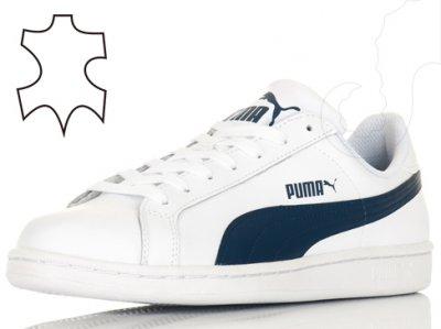Buty męskie Puma Smash białe skórzane rozmiar 44