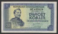 CSRS (Czechosłowacja) - 20 koron - 1945 - Borovsky