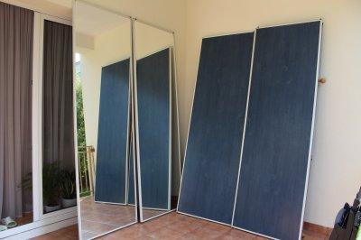 Modne ubrania Drzwi od szafy zabudowa lustro płyta - 6487098825 - oficjalne VJ11