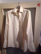 Koszula ecru Sunset Suits na spinki do mankietów
