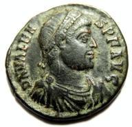 AC- WALENS (364-378), Konst., WIKTORIA, scarce AE3