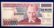 Turcja 1 000 000 Lirasi 1999 r. 300/11