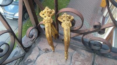 Dekoracyjne uchwyty do kraniszy-złocone-XIXw