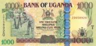 UGANDA 1000 Shillings 2008 P-43r S. ZASTĘPCZA UNC