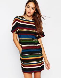a7654b1db2 ASOS sukienka MINI w paski KOLOROWA 3XL 46 18 - 5870064054 ...
