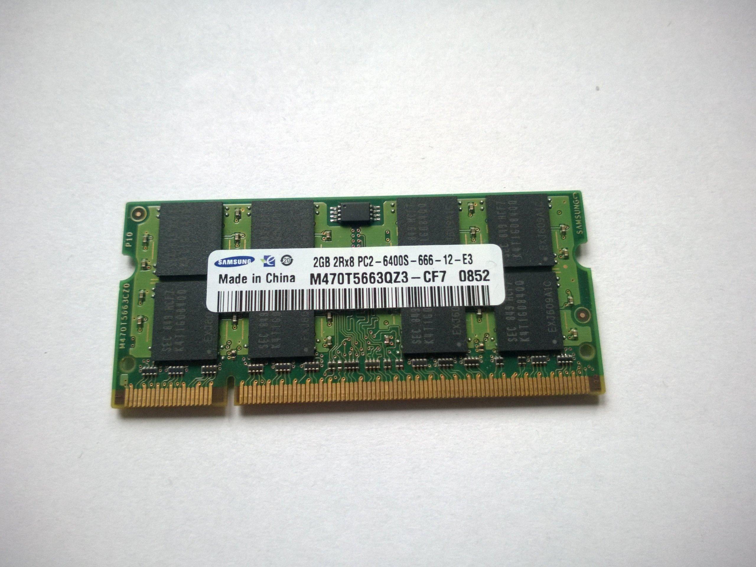 Pamięć RAM DDR2 2GB Samsung 800MHz 6400S PC2 Wa-wa